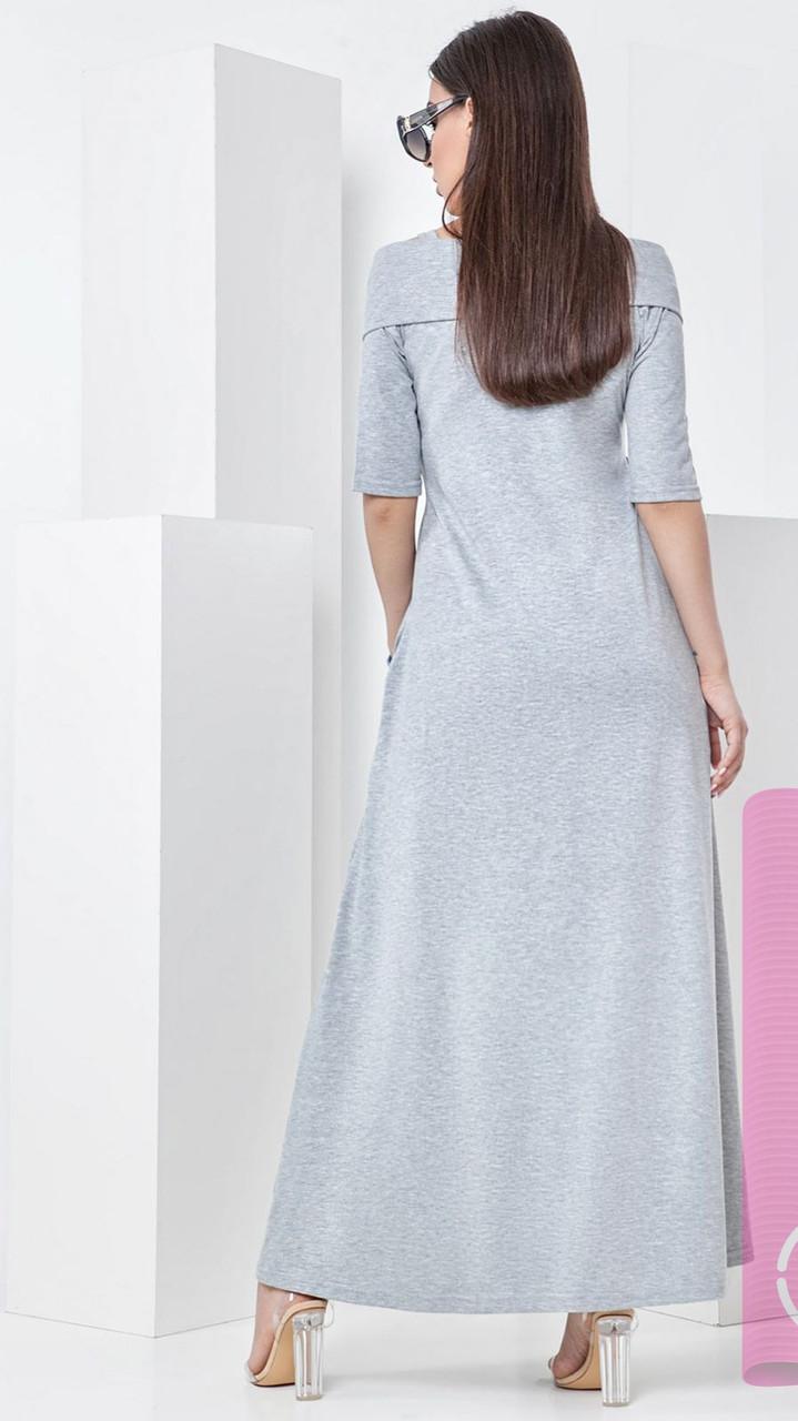 140ba36dfe0 Летнее платье в пол из мягкого трикотажного хлопка