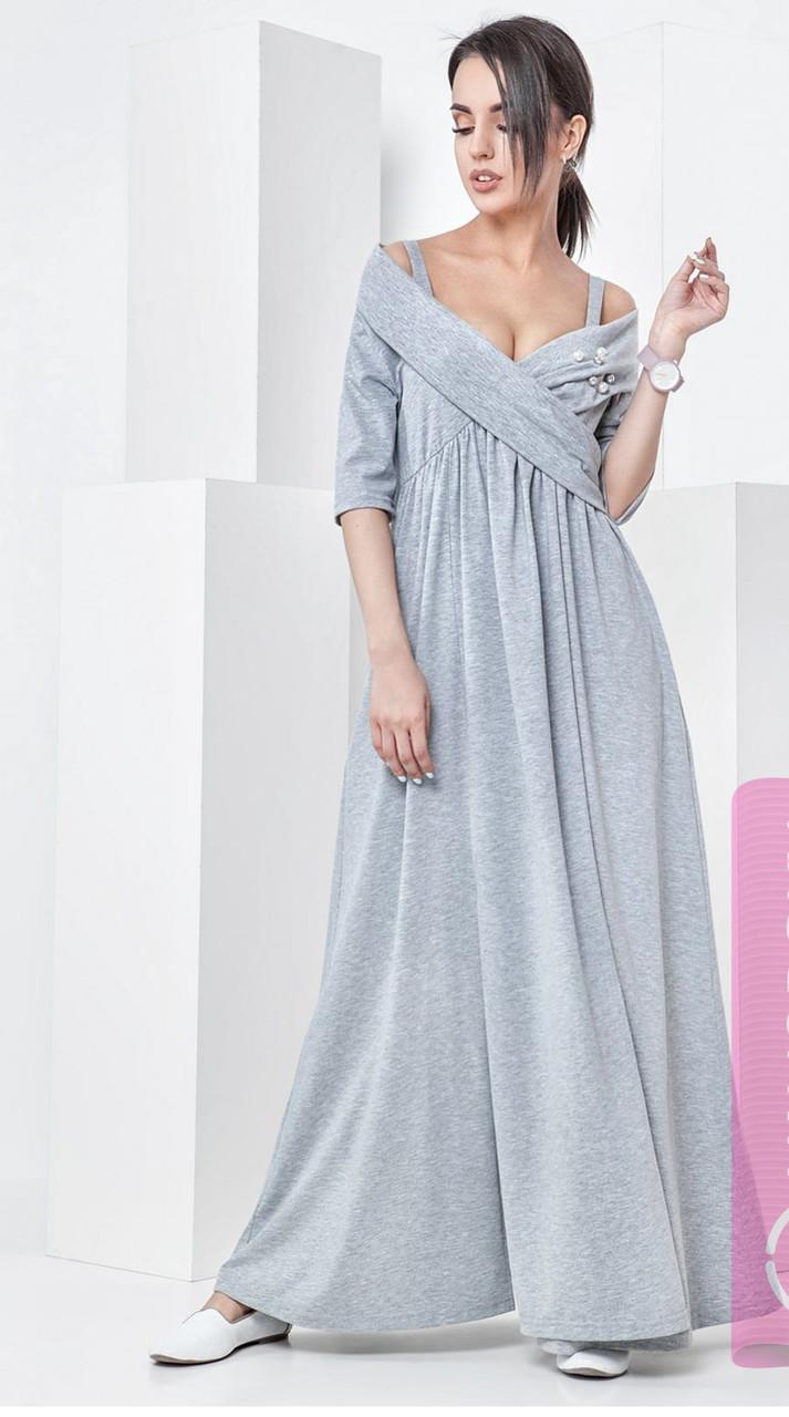 320be22e66b Летнее платье в пол из мягкого трикотажного хлопка - Модный магазин в Киевской  области