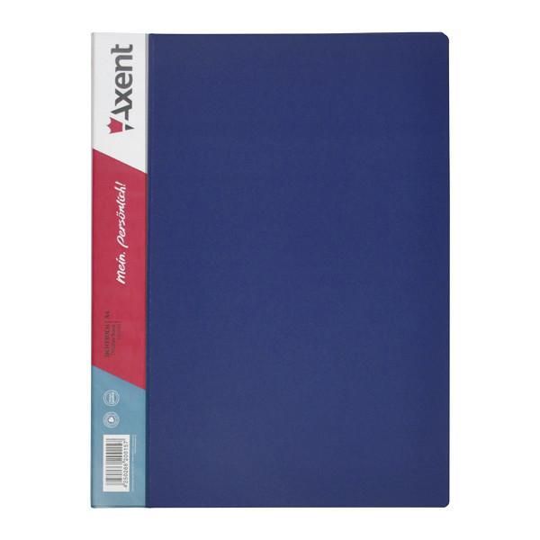 Папка на 20 файлов А4 пластиковая Axent 1020 дисплей-книга синяя