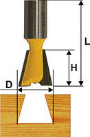 Фреза пазовая ласточкин хвост ф9.5х10.9°, хв.8мм (арт.9315)