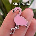 Серебряная брошь Розовый Фламинго - Фламинго брошь серебро, фото 4