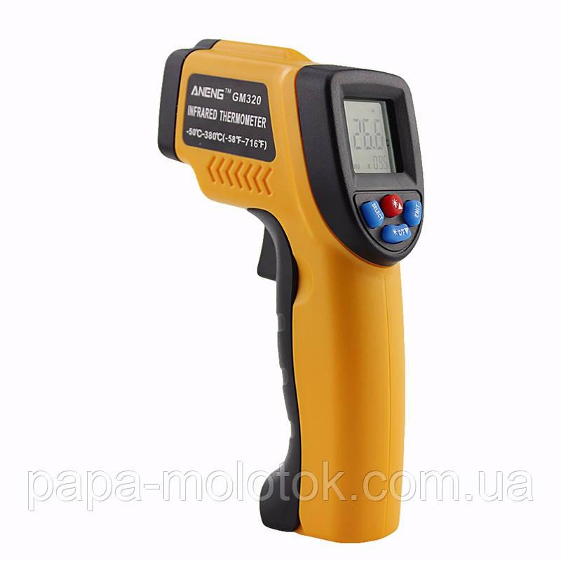 Инфракрасный цифровой термометр, пирометр. Бесконтактный инфракрасный термометр с ЖК-дисплеем