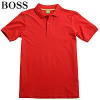 Футболка мужская поло 52 размера Boss-410 красная