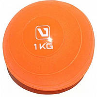 Медбол мягкий набивной 1 кг SOFT WEIGHT BALL LS3003-1