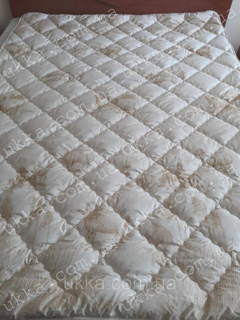 Полуторное шерстяное одеяло 155х210 Ода
