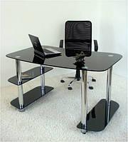 Компьютерный стол Maxi R 1350/800 черный