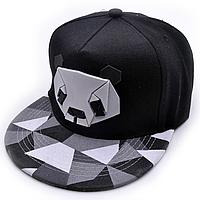 Черная Хип-Хоп Бейсболка кепка (унисекс) 3d панда