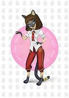 """3D открытка с дополнительной реальностью FIBRUM AR card """"Кошка Миа"""""""