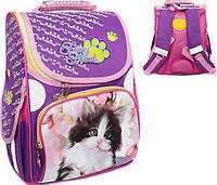 """Школьный рюкзак ранец для девочек каркасный """"Fancy Kitten» 300D PL RAINBOW"""