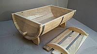 Дубовая кадка-бочка для цветов Seven Seasons™, 40*25 см (WT-1831)