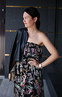 Летний женский сарафан из шифона NKLOOK черный, фото 1