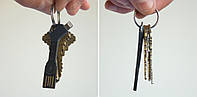 Flexible doublsided key chain cable для iPhone черный