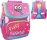 """Школьный рюкзак ранец для девочек каркасный """"Owl» 300D PL RAINBOW"""