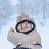 Мужской женский браслет из натуральных камней, каменный браслет, чоловічий жіночий браслет Black Crown, фото 7
