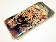 Чехол силиконовый с рисунком леопард для Samsung Galaxy E5 E500h