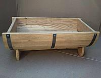 Дубовая кадка-бочка для цветов Seven Seasons™, 60*37 см (WT-1832)