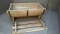 Дубовая кадка-бочка для цветов Seven Seasons™, 80*50 см (WT-1833)