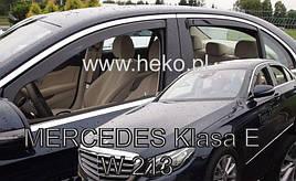 Дефлекторы окон (ветровики)  Mercedes E-klasse W213 2016- 4шт (Heko)