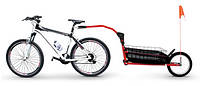 Туристический велотрейлер, велосипедный прицеп Peruzzo Carry Angel красный