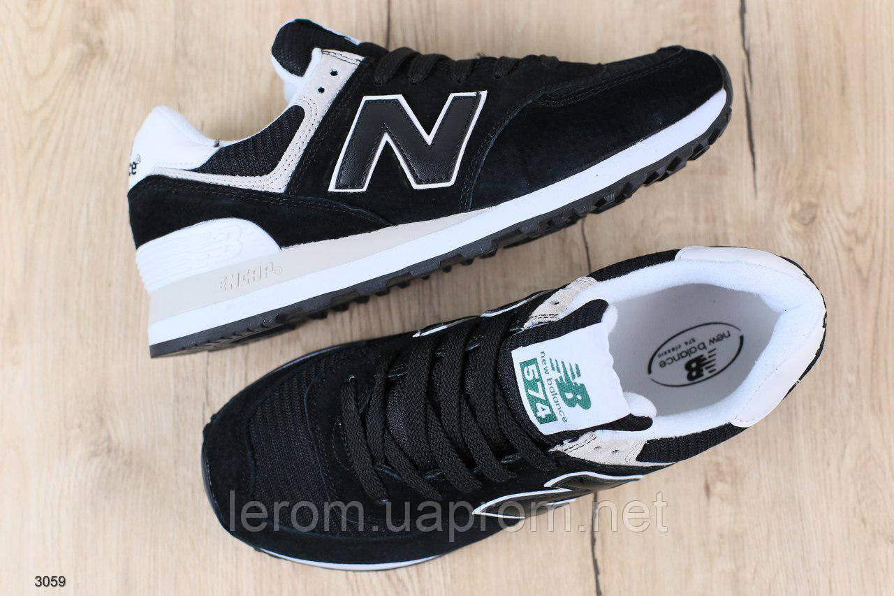 Черные замшевые мужские кроссовки New Balance