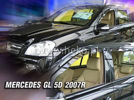 Дефлекторы окон (ветровики)  Mercedes GL-Class X164 2006-2012 4шт (Heko)