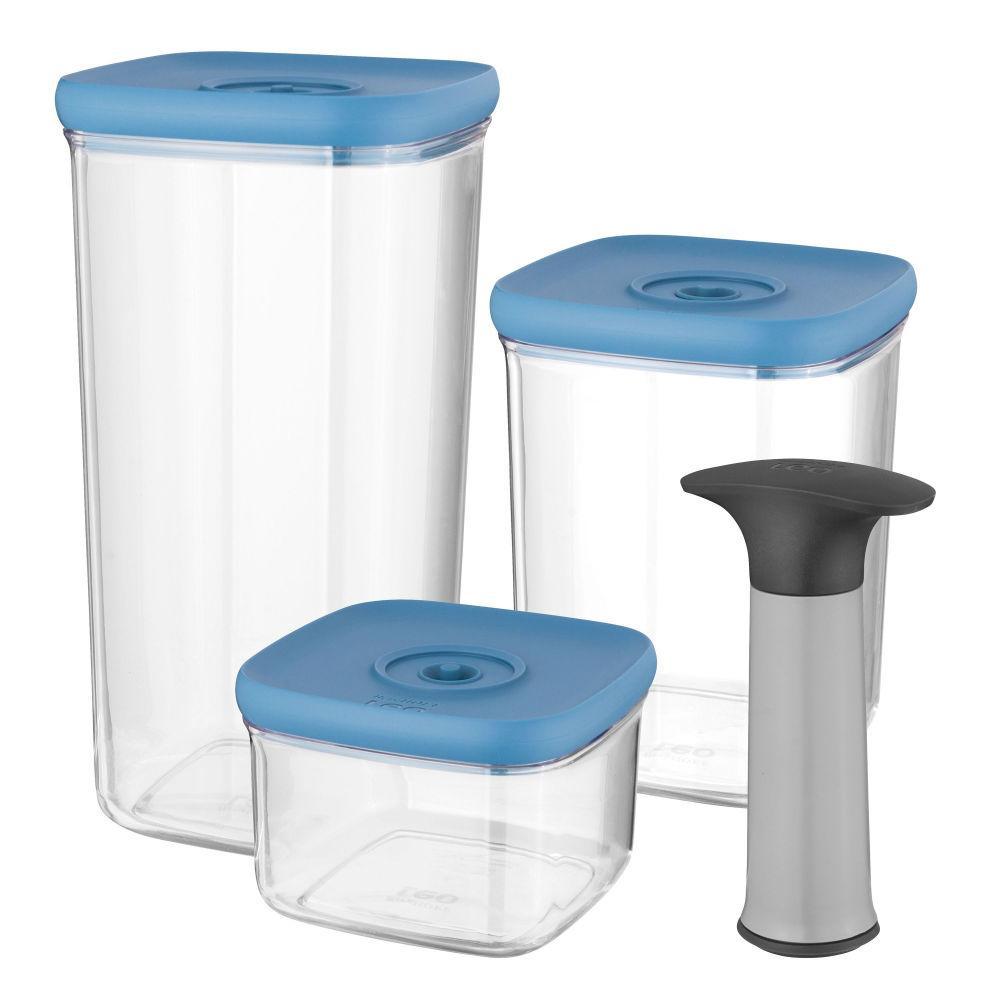 Набор вакуумных контейнеров с помпой BergHOFF Leo 4 шт (3950128)