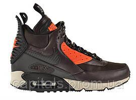 """Мужские кроссовки Nike Air Max 90 SneakerBoot """"Velvet Brown/Hyper Crimson"""""""