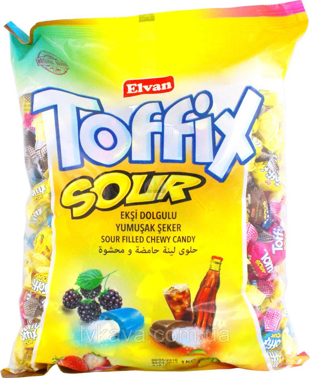Жевательные конфеты Toffix Sour  , 1000 гр