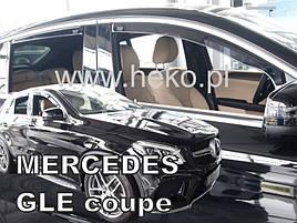 Дефлекторы окон (ветровики)  Mercedes GLE coupe C292 2015- 4шт (Heko)