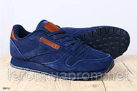 Модные мужские кроссовки Reebok натуральная замша