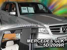 Дефлектори вікон (вітровики) Mercedes GLK 2009 - 4шт (Heko)