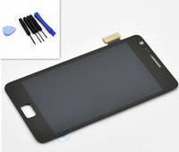 Samsung GT-i9100 Galaxy S2 - дисплей в сборе с сенсором черный с передней панелью