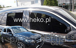 Дефлектори вікон (вітровики) Mercedes GLC X253/C253 2016 4шт (Heko)