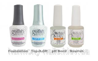 Набір препаратів Gelish (Foundation, Top-it-Off, pH Bond, Cuticle Oil)