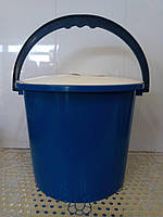 Ведро 8 литров с крышкой цветное