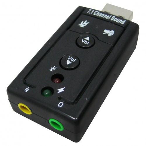 Мини звуковая карта USB 7.1