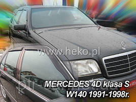 Дефлекторы окон (ветровики)  MERCEDES S classe W140 1991-1998(HEKO)