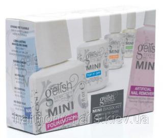 Gelish Harmony Mini Basix Kit - стартовий набір препаратів для гелів-лаків Gelish