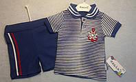 Костюм Nexics футболка и шорты якорь синий мальчик