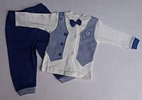 Костюм штаны+кофта с бабочкой синий