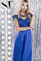 Вечернее платье в пол Глория электрик 42-46, фото 1