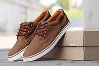 Мужские  мокасины Bokai коричневые  кеды кроссовки -Ткань прорезиненная,подошва резина размеры:40-45 Польша