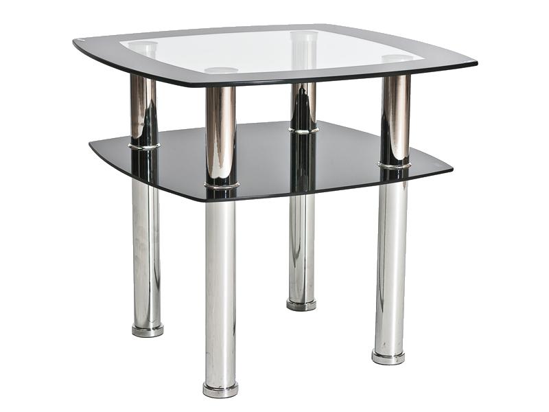 Журнальний кофейний стіл зі скла у вітальню Rava D Signal