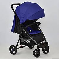Детская прогулочная коляска-книжка JOY Т-200 синяя