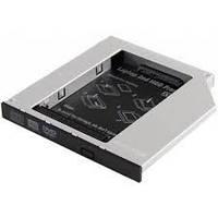 Адаптер подключения HDD 2.5'' в отсек привода ноутбука SATA/mSATA (HDC-25), Blister
