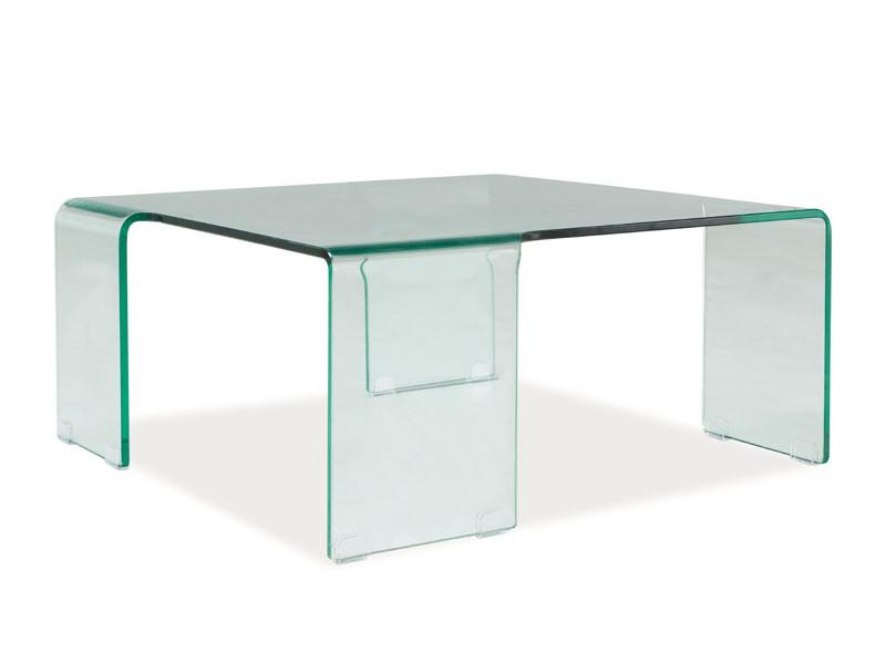 Журнальний кофейний стіл зі скла у вітальню Rene Signal