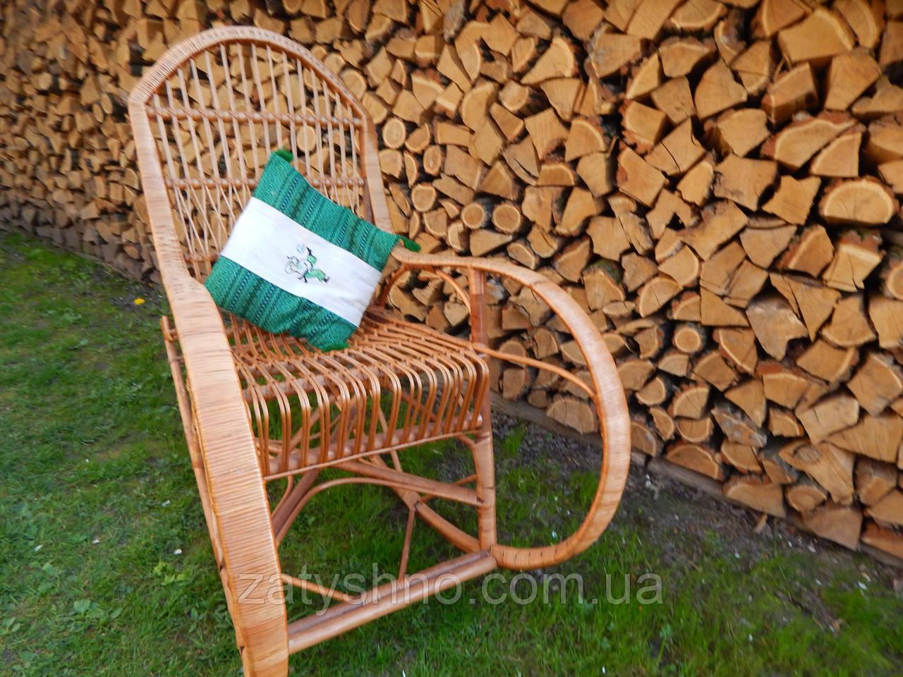 Кресло качалка плетеная  кофейная, удобная