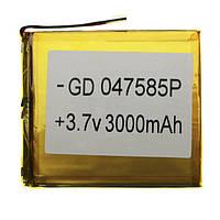 Акб универсальный 75*85 мм на 2500 - 3000mAh батарея полимерная