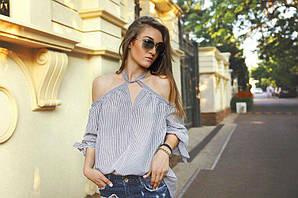 Рубашка женская открытые плечи