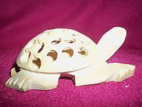 Статуэтка Черепаха резная из дерева